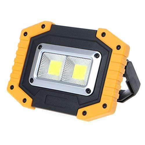 kdjsic Lámpara de Trabajo portátil 2 COB LED Luz de inundación al Aire Libre Linterna de Emergencia para Acampar