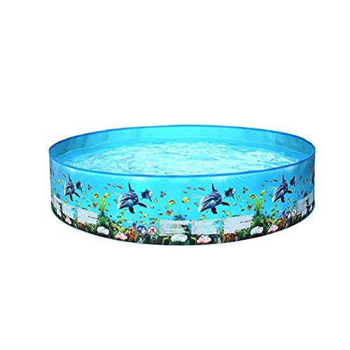 XOYZUU Divertida piscina para niños, fácil de montar, piscina al aire libre, 152 x 25 cm, 122 x 25 cm