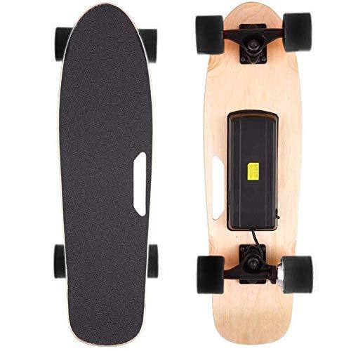 VOMI E-Skateboard Komplettboard 27Zoll, Action Elektro-Board, Skateboard Elektrisch mit Motor, E-Longboard Elektroantrieb Fernbedienung, Cruiser Erwachsene Komplettes Street Board,Schwarz