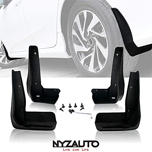 NYZAUTO Mud Flaps Kit Compatible with Accord 2018-up, Front and Rear Mud Guards 4-PCS Set
