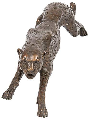 aubaho Riesen Bronze Skulptur Figur Panther Leopard 114cm Bronzeskulptur Bronzefigur