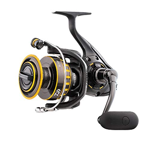 "Daiwa BG6500 BG Saltwater Spinning Reel, 6500, 5.3: 1 Gear Ratio, 6+1 Bearings, 48.7"" Retrieve Rate, 33 lb Max Drag"