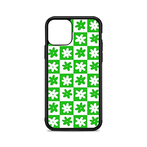 Funda de teléfono con Flores Blancas Verdes para iPhone 12 13 Mini 11 Pro XS MAX X XR 6 7 8 Plus SE20 Funda de Silicona TPU Suave, A1, para iPhone 6 6s Plus