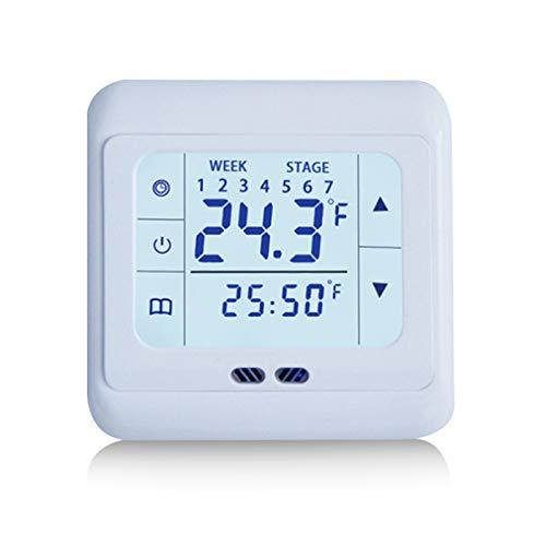 GUHUIHE Termorgulador de la casa Termostato de calefacción de la Pantalla táctil para el Sistema de calefacción eléctrica del Piso cálido Controlador de Temperatura (Color : A)