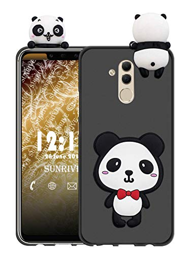 Sunrive Für alcatel A7 XL Hülle Silikon, Handyhülle matt Schutzhülle Etui 3D Case Backcover für alcatel A7 XL(W1 Panda 1) MEHRWEG+Gratis Universal Eingabestift
