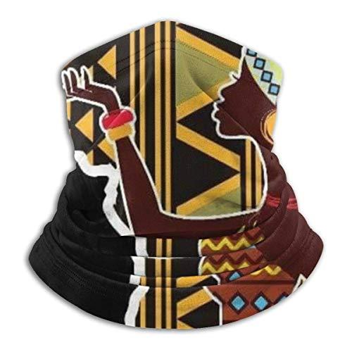 Mujeres africanas mapa abstracto adorno divertido cuello caliente hombres mujeres cuello polaina elástico cara bufanda diadema bandana para deporte al aire libre
