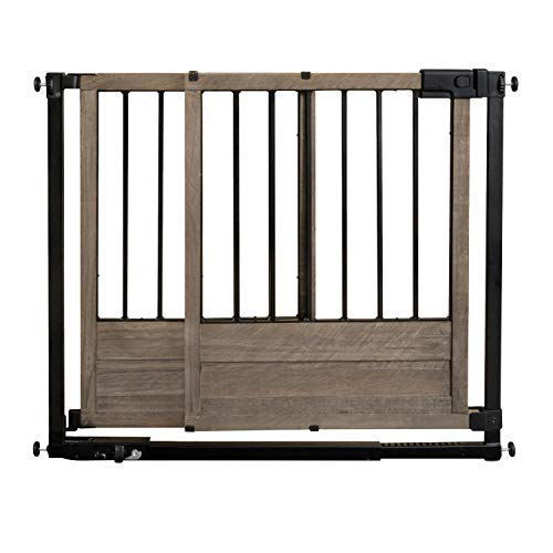 Summer Infant Home Safety Gate, 29' - 42' Wide & 30' Tall, for Doorways & Stairways, with Extra Wide Walk Through Barn Door, Rustic, 29' - 42' Wide