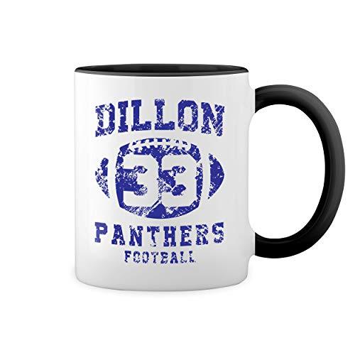 Dillon Panthers Football 33 Blanca taza de caf con RIM Negro y manija Mug