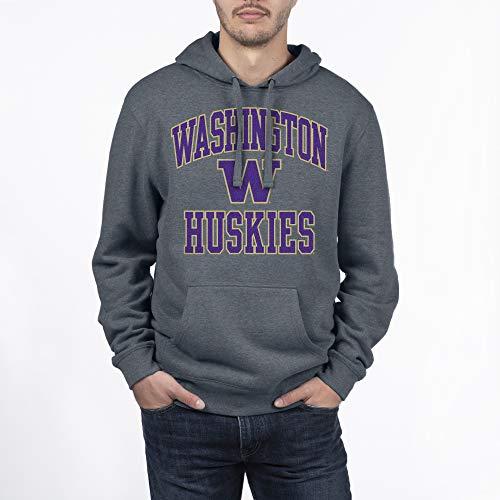 Elite Fan Shop NCAA mens Dark Charcoal Gray Hoodie Sweatshirt