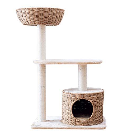 Marco De Escalada De Gato De Ratán De Exportación Cuatro Estaciones Arena para Gatos Universal Árbol De Gato Un Gato De Sisal Gato Rascador Gato Juguete Gato Soporte De Gato Escalada: Amazon.es: