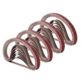 1/2 Inch x 18 Inch Sanding Belts, 4 Each of 60/80/120/180/240 Grits, Belt Sander Tool for Woodworking, Metal Polishing, 20 Pack Aluminum Oxide Sanding Belt