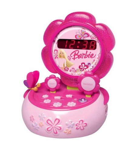 Barbie Flower Clock Radio Radiorekorder