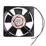 JJZXT Nuevo Ventilador de refrigeración de Caja de 2 Cables con cojinete de Manguito de 120 mm 220-240 V CA