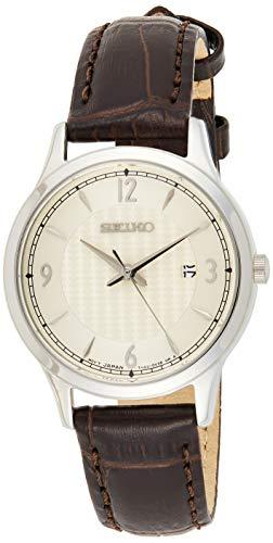 Seiko Quarz Damen-Uhr Edelstahl mit Lederband SXDG95P1