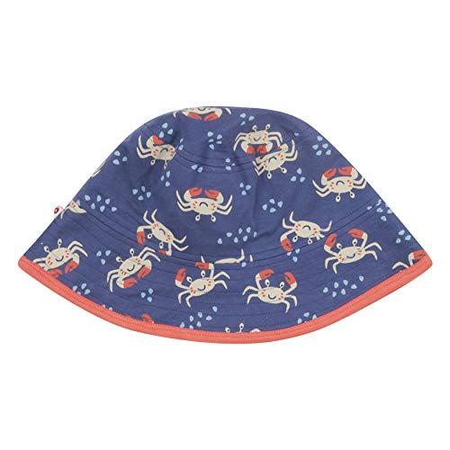 Piccalilly blau Wendehut Kinder Sonnenhut Bio-Baumwolle Unisex Krabbe Design für Mädchen + Jungen Gr. 6 Jahre, violett