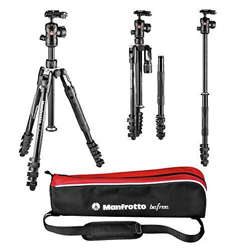 "Manfrotto Befree 2N1 tripode Digitales / cámaras de película 3 pata(s) Negro, Plata - Trípode (Digitales / cámaras de película, 8 kg, 3 pata(s), Negro, Plata, Cierre Flip-lock, 1/4"")"