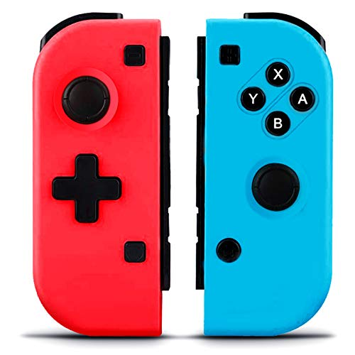 GEEMEE Wireless Controllers for Nintendo Switch, Game Controller Gamepad Joypad Joystick Switch Controller Compatible with Nintendo Switch/Switch Lite - Red and Blue