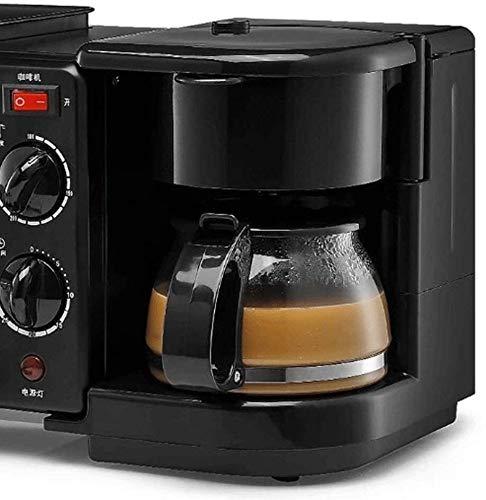 ZLSANVD Machine à café Filtre Cafetière Machine à Pain Multi-Fonction Trois-en-Un Petit déjeuner Machine Grille-Pain de ménage Machine à café Machine à café pod