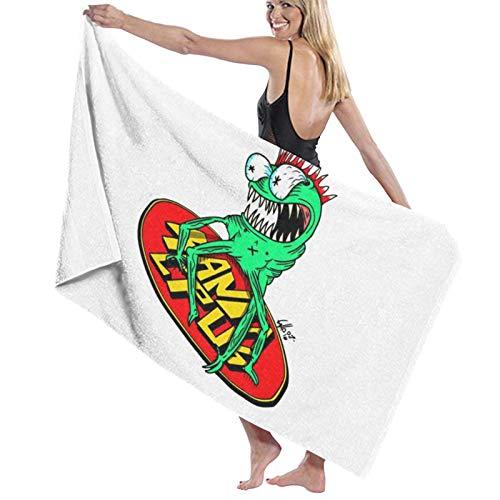 ghjkuyt412 Bath Towel,80X130Cm Black Santa Cruz Bath Towels Super Absorbent Beach Bathroom Towels For Gym Beach SWM SPA