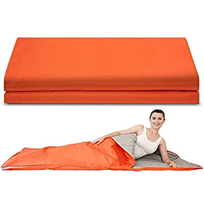 Verniflloga Infrared Personal Sauna Blanket,78(L)×39(W) Inches Fast Sweating Professional Fitness Machine at Home for Weight Loss and Detoxification(with Button Battery/110V US Plug)