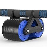 Resilientación de la rueda abdominal a domicilio, rueda de músculo abdominal rodamiento de rodillos de rodamiento de rodillos de cuero con ruedas en silencio, adecuado para el hogar o el gimnasio DSB