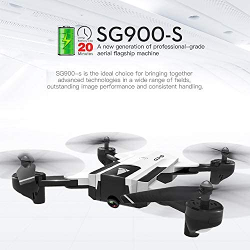 DEjasnyfall 2 Batterie sg900-s 2,4g rc Drone Faltbare Selfie smart GPS FPV Quadcopter mit 720 p hd Kamera h  hold Follow me (Weiß
