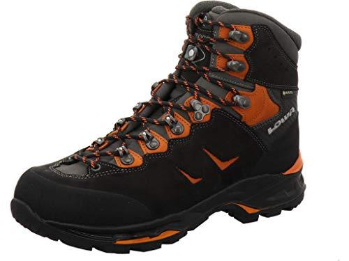 Lowa Camino GTX Chaussures de randonnée pour homme Large variante Noir/orange Taille 10/44,5