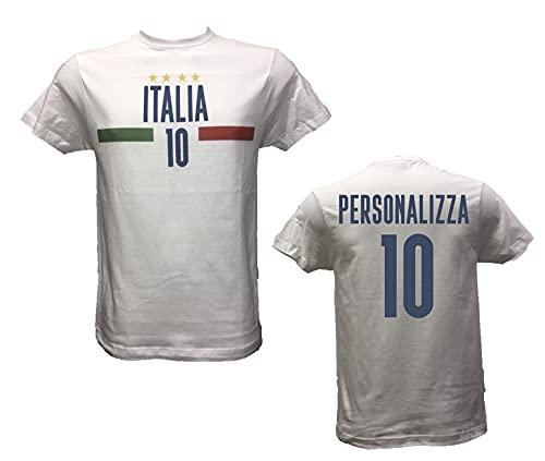 DND DI D'ANDOLFO CIRO T-Shirt Uomo Maglia Bianca Italia per Veri Tifosi Italiani, Stampata...