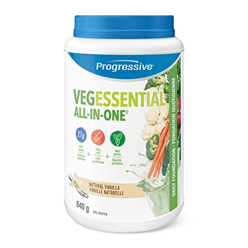 Progressive VegEssential, All-In-One Vegan Protein, Greens, Vitamins & Minerals Powder - Vanilla Flavour, 840 g