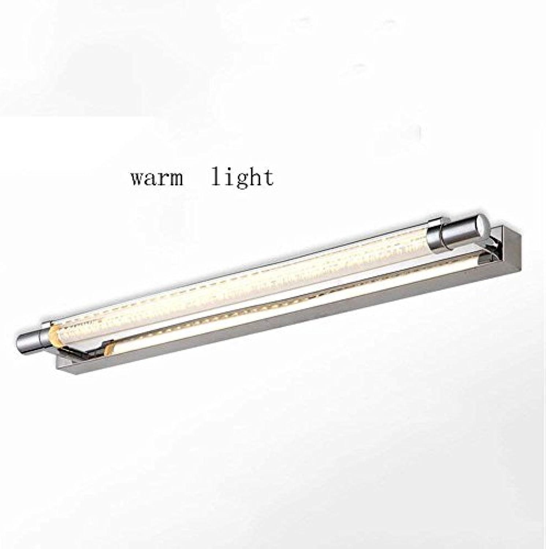 CN Hauptbadezimmer-Spiegel-Scheinwerfer-Edelstahl-Badezimmer führte Spiegel-Front-Lampe Einfaches modernes Badezimmer-Spiegel-   Spiegel-Kabinett-   Wand-Licht-   Kosmetikspiegel (52Cm-6W, 60Cm-7W) d