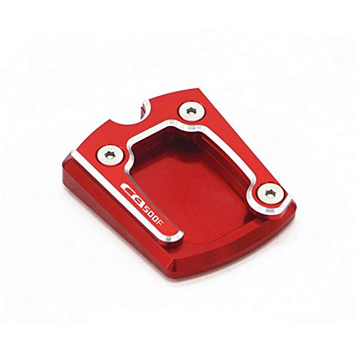 LIWIN Moto Accesorios For Honda CB500F CB500X CB CB 500 F 500 X motocicleta CNC caballete lateral de la placa de la ampliadora pata de cabra Extensión (Color : CB500F red)