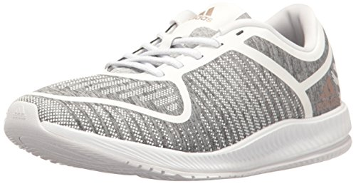 adidas Women's Athletics Bounce Cross-Trainer Shoes, Light Heather/Vapour Grey/White, (7 M US)