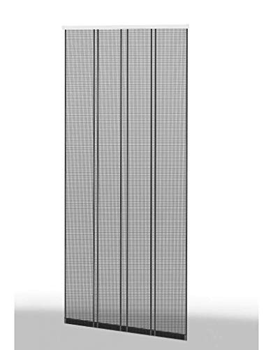 Klemm Lamellenvorhang 100x220cm Profil braun Lamelle anthrazit 101430102-VH