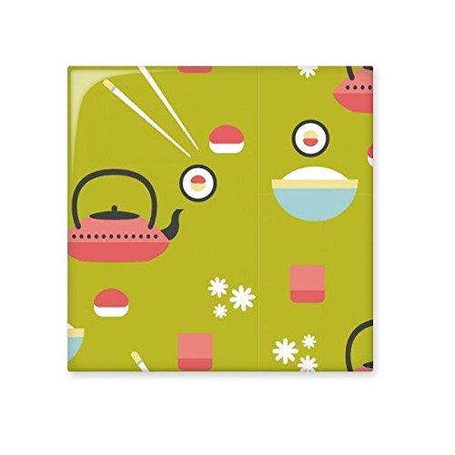 Japan Cultuur Japanse Stijl Leuke Groen Blauw Rood Wit Rijst Theepot Cup Sushi eetstokjes Sakura Illustratie Patroon Keramische Bisque Tegels voor het verfraaien Badkamer Decor Keuken Keramische Tegels Wandtegels S