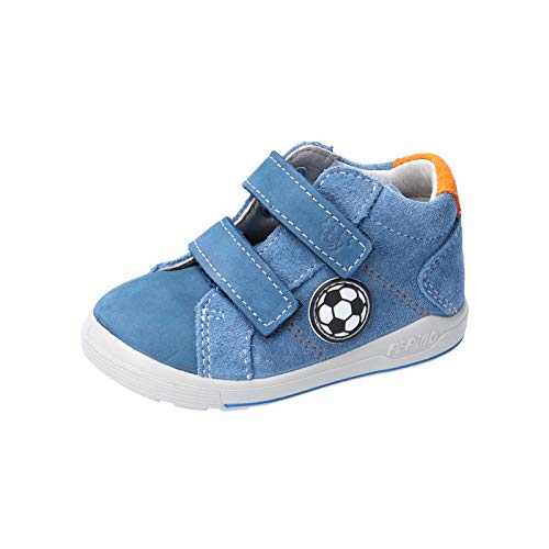 RICOSTA Jungen Kletthalbschuhe LINU von Pepino, Weite: Mittel (WMS), verspielt detailreich Freizeit leger Halbschuh Sneaker,Petrol,24 EU / 7 Child UK