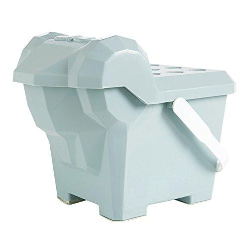 Tabouret de stockage multifonctionnel, tabouret de stockage de jouet des enfants, ménage peut s'asseoir sur le tabouret portatif en plastique (Couleur : Blue)