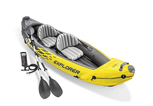 Efttel Canoa Canoa Kayak Amarillo Canoa Lago Seguro Río Kayak + Bomba Negro/amarillo