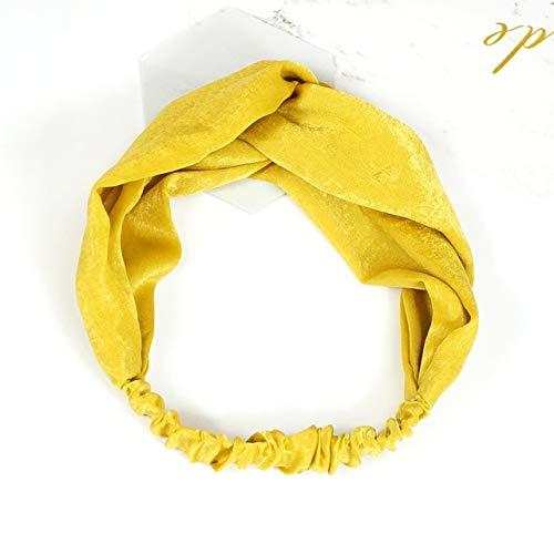 TSEINCE Effen Kleur Dames Haarband Knot Bow Wash Make-up Eenvoudige Haarband Sieraden