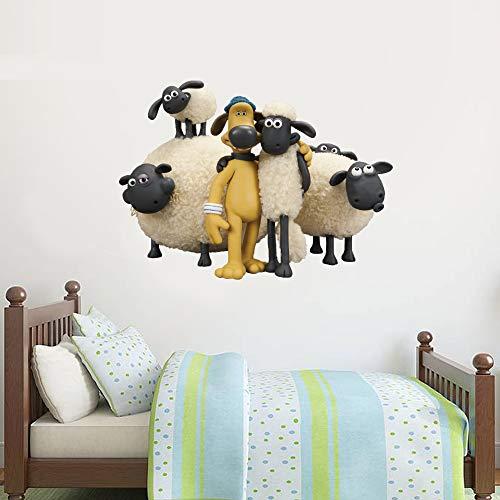 Shaun das Schaf Wandtattoo – Shaun und Bitzer, 60 cm