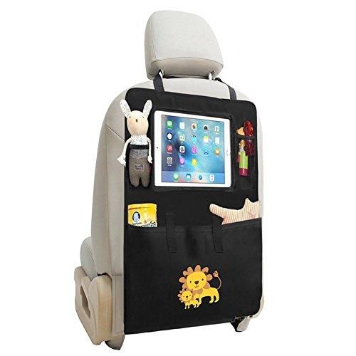 Zuoao Organizer Auto Organizzatore Sedile Posteriore Multi-Tasca Borsa da Viaggio Proteggi Sedile Auto Bambini Universal Auto Organizer Impermeabile e Resistente con Tasca per Tablet Leone