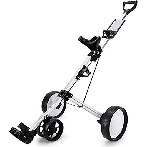 SJB Golf Trolley Golf Push Cart Faltbare 3-Rad Golf Trolley Elektro-Golf-Trolley-Rad-Push-Pull-Golf Cart Fitnessgeräte