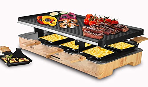 Artestia Raclette Table Grill,Electric Indoor Grill with Non-Stick Grill Plate and Grill Stones,...
