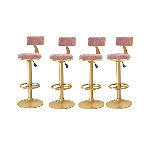barstolar Seat Barstols, Justerbar räknare Höjdstolar Guldbenta matsalhöjd Justerar från 24 till 31.5 tum, svängbar barstolar uppsättning av 4 svängbar barstol (Color : B1)