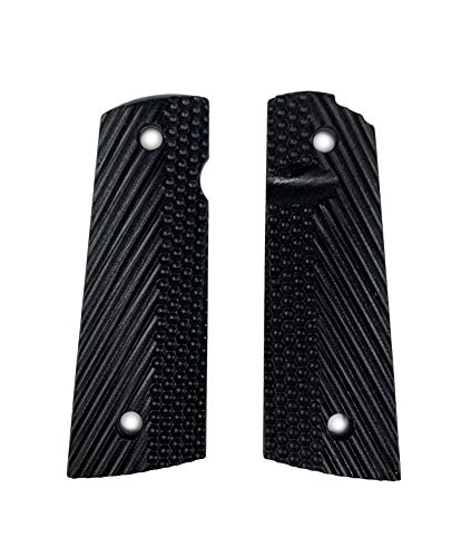 Savage Grips 1911 Alpha II.5 Grips, Medium Texture, Ambi Safety Cut, for MAGWELL (Black)