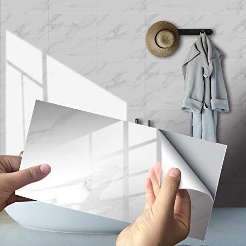 16 pCS Adhesivo de pared autoadhesivo, adhesivo de cerámica para azulejos de pared, adhesivos para azulejos de mármol, PVC impermeable para decoración de sala de estar, cocina y baño