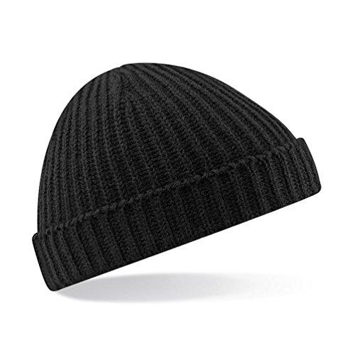 Beechfield Unisex Trawler Beanie Hat Baseball Cap, Schwarz (Black 000), One Size