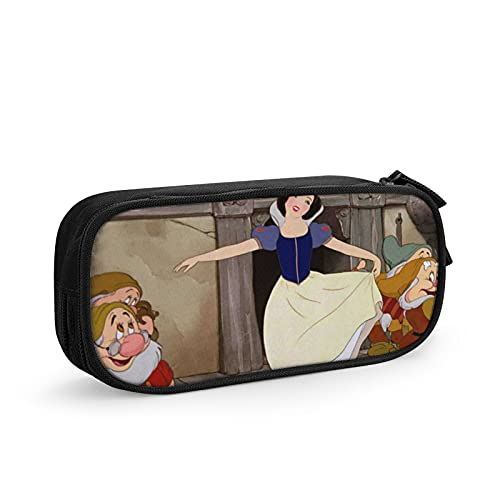Estuche para lápices con diseño de princesas de Disney para adolescentes y niños, de lona duradera, de gran capacidad, con compartimentos