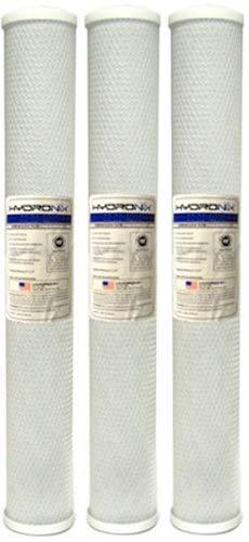 Hydronix CB-25-2010 NSF Kohleblockfilter, 6,35 cm Durchmesser x 50,8 cm Länge, 10 Mikron Pack of 3