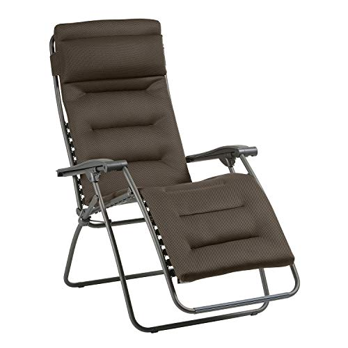 Lafuma Tumbona relax, Plegable y ajustable, RSX Clip, Air Comfort, Gris topo, LFM2038-8719