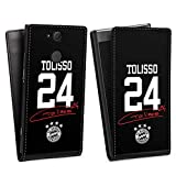 DeinDesign Flip Case kompatibel mit Sony Xperia XA2 Tasche Hülle Tolisso #24 FC Bayern München Trikot